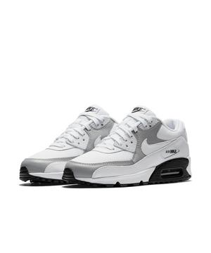 Nike Air Max 90 White Black Grey Women S Casual Shoe Hibbett
