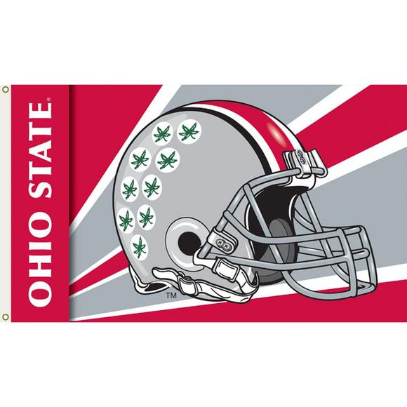 8291f90f416 BSI Products Ohio State Buckeyes Helmet Flag - Main Container Image 1