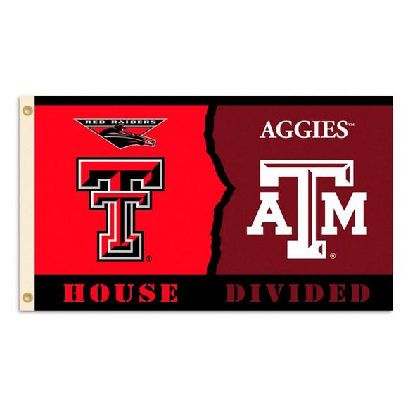new style 008c7 7b503 BSI Products Texas Tech Raiders Texas A M Aggies Rivalry House Divided 3ft  x 5ft Flag