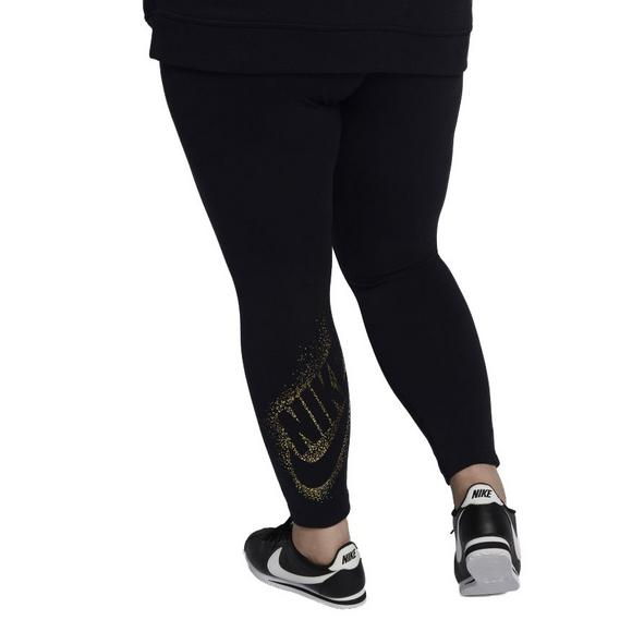 c1bf34637f9e9 Nike Women's Metallic Sportswear Leggings-Black/Gold - Main Container Image  2