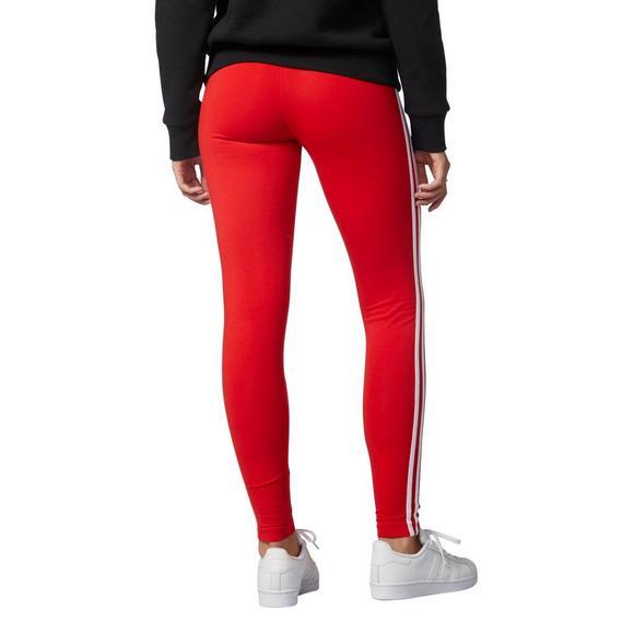 6b828ca751793 adidas Originals Women's 3-Stripes Leggings- Red - Main Container Image 2