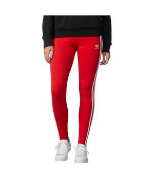 adidas leggings red stripe