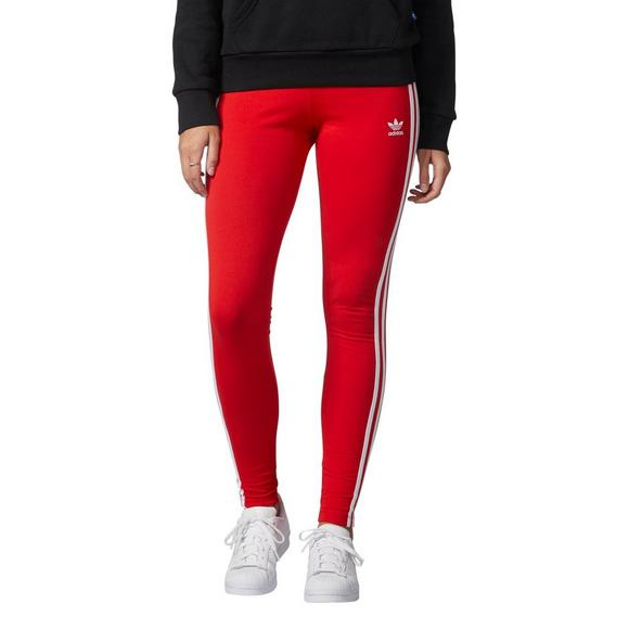 34c24f3878d20 adidas Originals Women's 3-Stripes Leggings- Red - Main Container Image 1