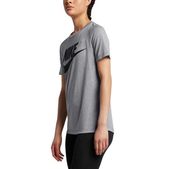 aeca008b29b41 Nike Women's Sportswear Essential T-Shirt - Grey - Hibbett US