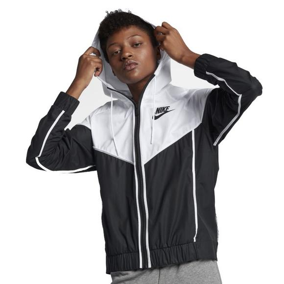 37c10dc154a2 Nike Women s Sportswear Windrunner Jacket-Black White - Main Container  Image 1