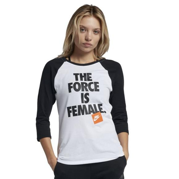 303e463512312 Nike Women's Force Is Female Raglan Tee - Main Container Image 1