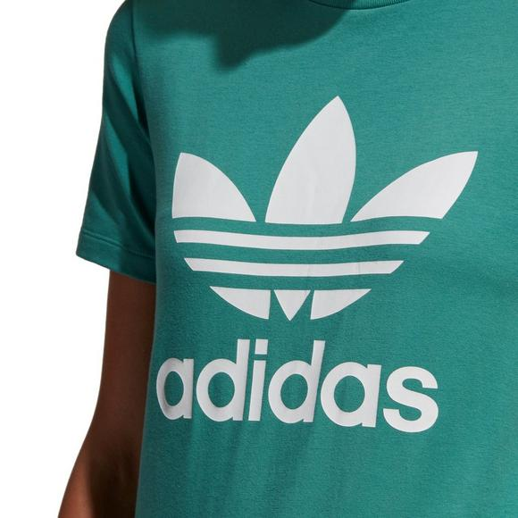 a73a0d3fa adidas Women's Originals Trefoil Tee - Green - Main Container Image 2