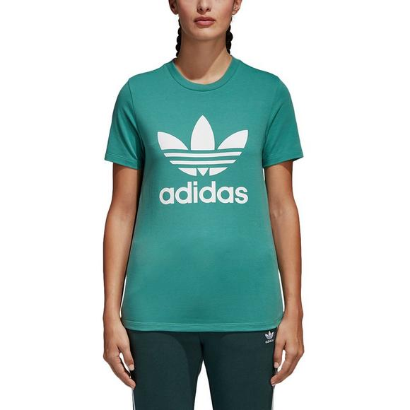 adidas Women s Originals Trefoil Tee - Green - Main Container Image 1 0690de422