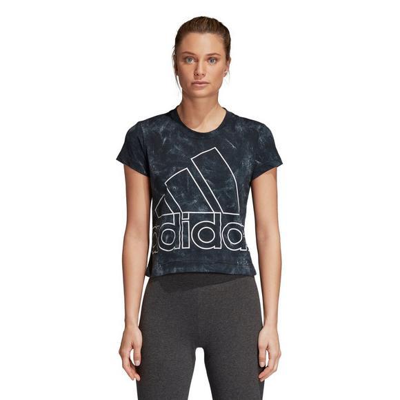 Adidas l'atletica femminile pacifista delle t - shirt ci hibbett