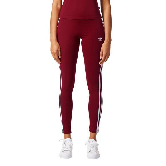 Adidas Originals  mujer 's 3 Stripes Leggings Burdeos Hibbett nosotros
