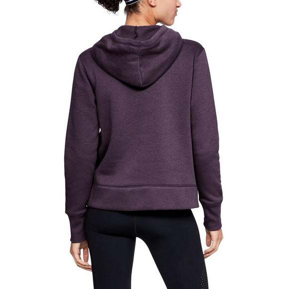 Under Armour Women s Rival Fleece Logo Hoodie - Purple - Main Container  Image 2 9e1ed945b1