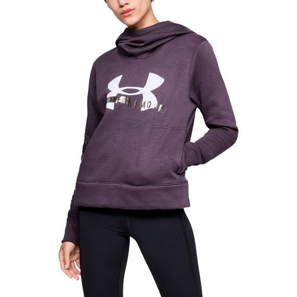 433b946a Under Armour Women's Rival Fleece Logo Hoodie - Purple