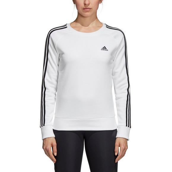 0b61aca70 adidas Fleece Crew Sweatshirt - White - Main Container Image 1