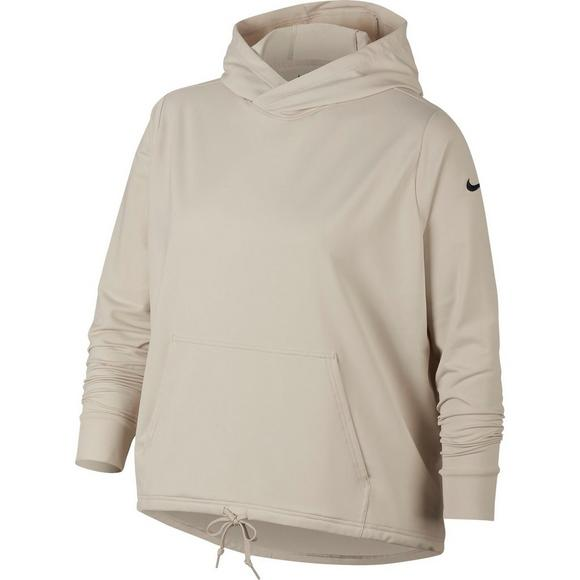 bb6cbc92 Nike Women's Dry Long Sleeve Hoodie - Sand - Main Container Image 1
