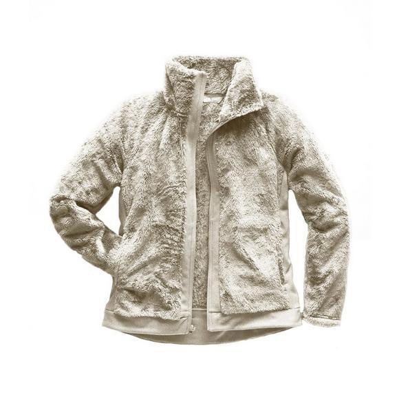 3725f2b76 The North Face Women's Furry Fleece Full Zip Jacket - White - Hibbett US