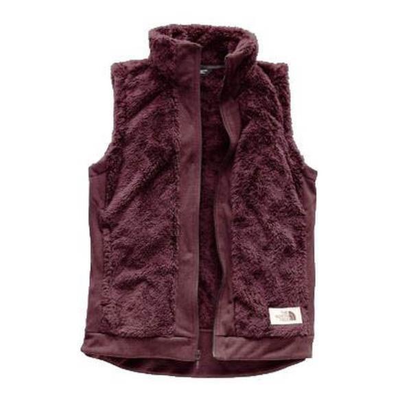 The North Face Women S Furry Fleece Full Zip Jacket Burgundy