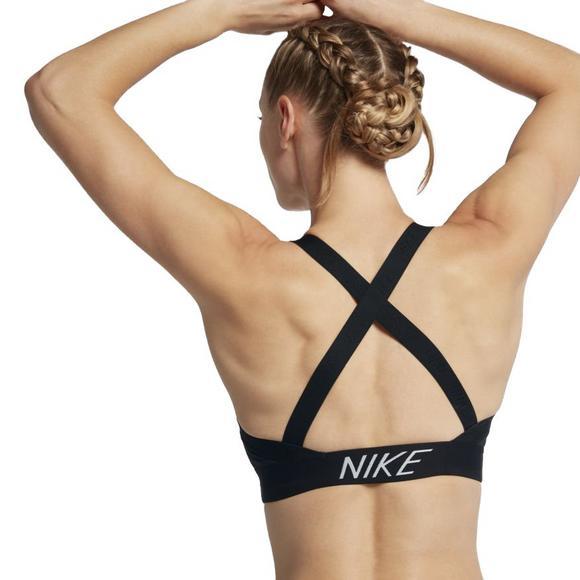 15263c0fa6 Nike Women s Pro Indy Logo Back Sports Bra-Black - Main Container Image 2