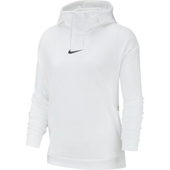 97ef2e0002d3f Nike Therma Women's Training Fleece White Hoodie - Hibbett US