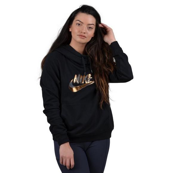official photos 0468b 6df61 Nike Sportswear Women s Club Fleece Funnel-Neck Hoodie - Main Container  Image 1