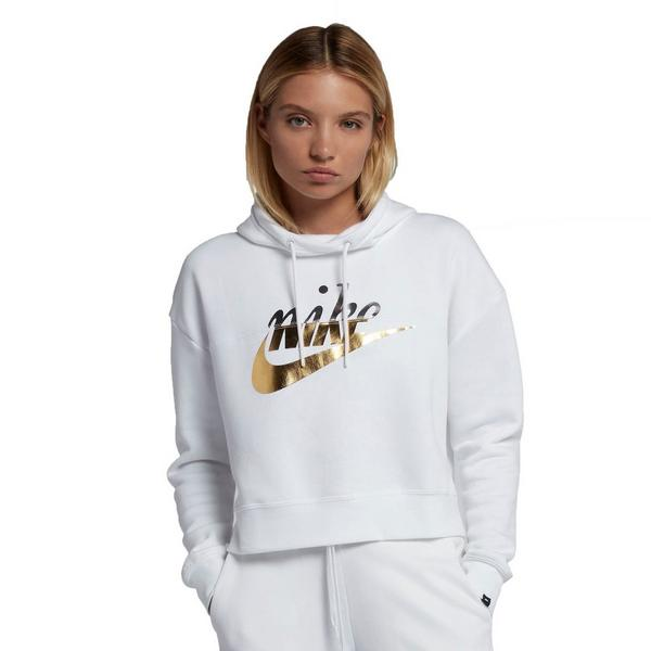 d5cf4864e71b Display product reviews for Nike Sportswear Women s Rally Metallic Hoodie -  White