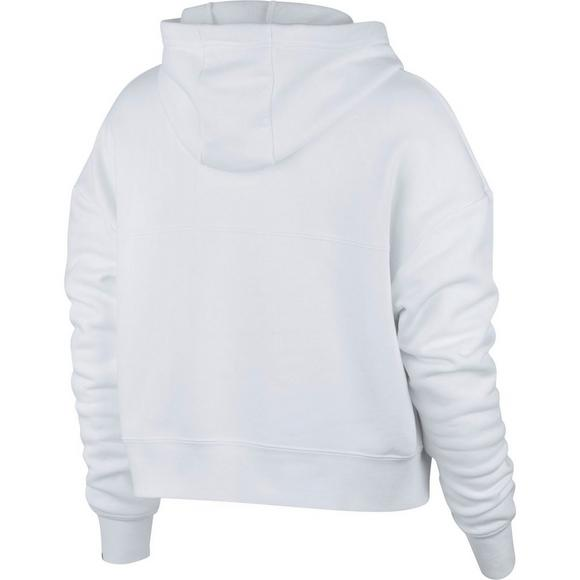 8c13b434e Nike Sportswear Women's Rally Metallic Hoodie - White - Hibbett US