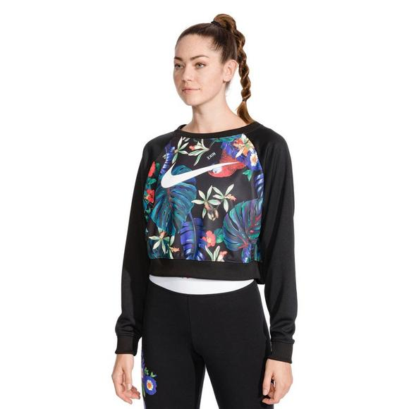 brand new 161eb 3ca05 Nike Sportswear Womens Hyper Femme Cropped Crew Sweatshirt - Main  Container Image 1