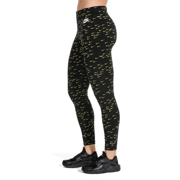 54a7e06d709fc Nike Sportswear Women's Leg-A-See Leggings - Black/Lime - Main Container