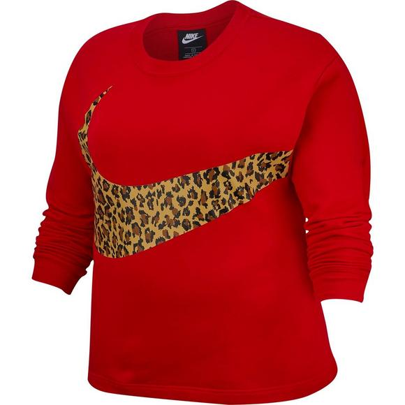 size 40 1a958 1420e Nike Womens Plus Red Animal Print Crew Tee - Main Container Image 5