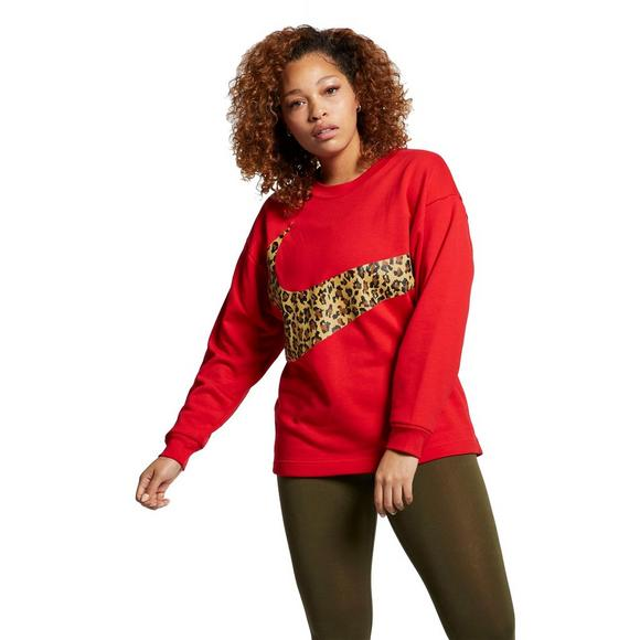 best authentic 26774 000c6 Nike Womens Plus Red Animal Print Crew Tee - Main Container Image 1