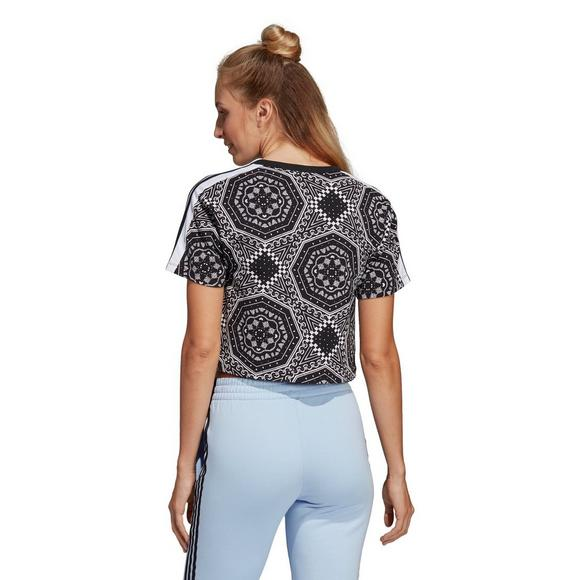 39f1aa0cf455d3 adidas Originals Women s Clash Cropped Tee - Main Container Image 2