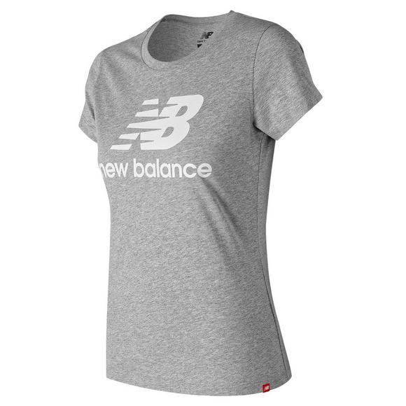 fee5aeeb New Balance Women's Essentials Stacked Logo Tee - Hibbett US