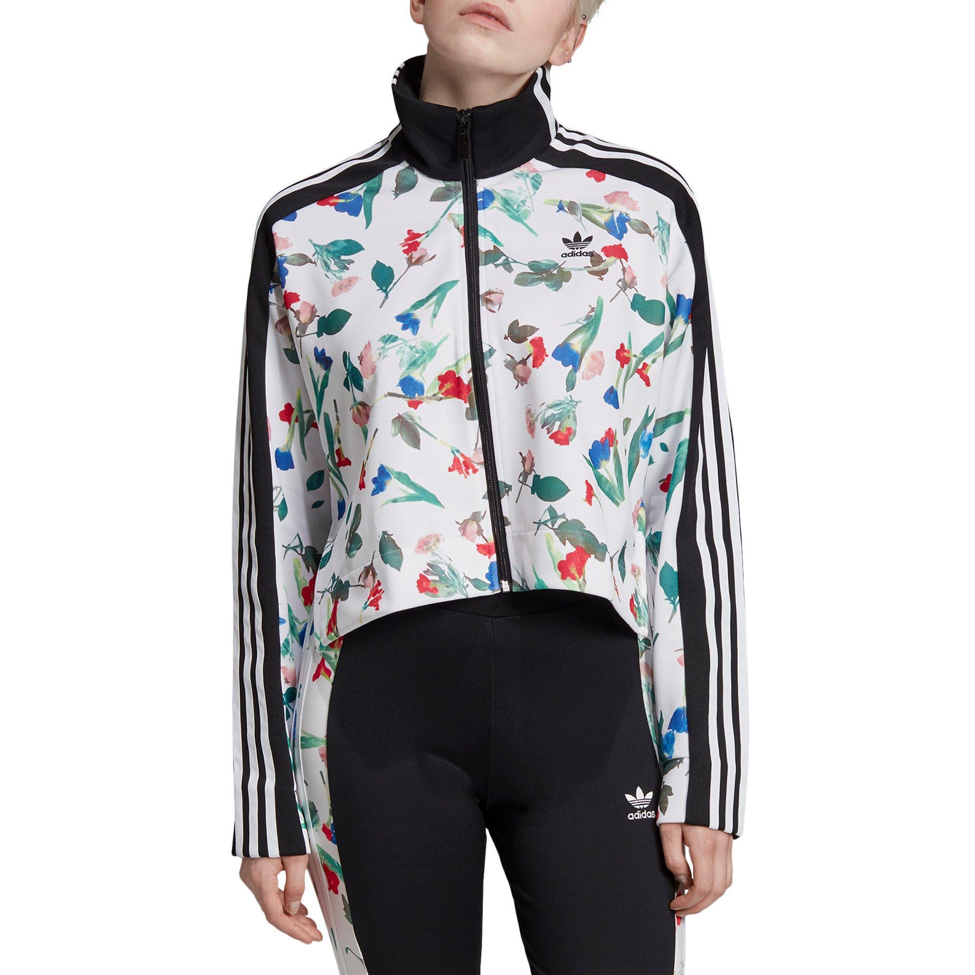 borde hogar Destello  adidas Women's Originals Floral Bomber - Hibbett | City Gear