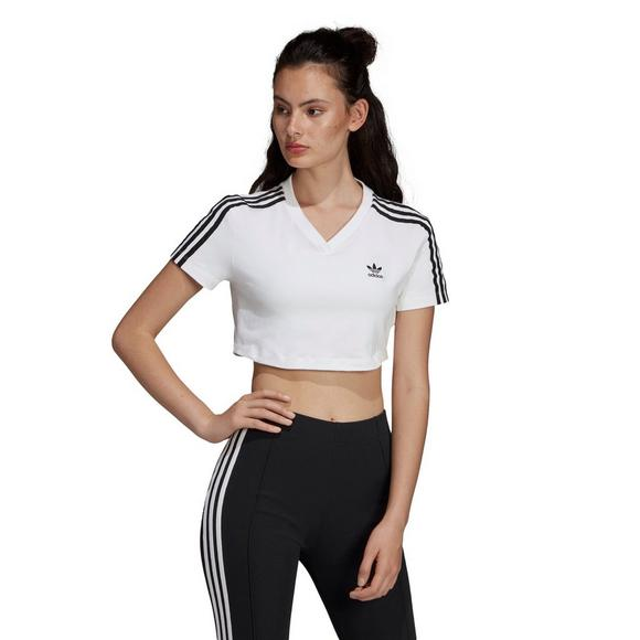 5868ef45 adidas Women's Originals V-Neck Cropped Tee - Main Container Image 1
