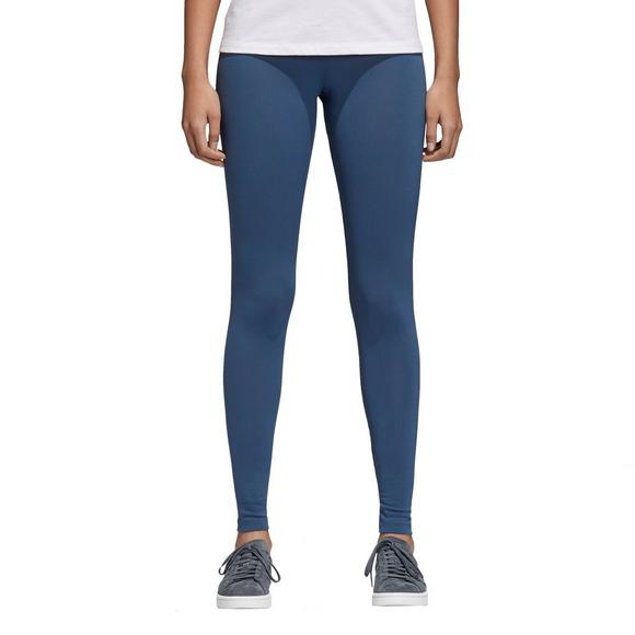 810041abe9414 adidas Originals Women's Trefoil Leggings-Blue - Main Container Image 1