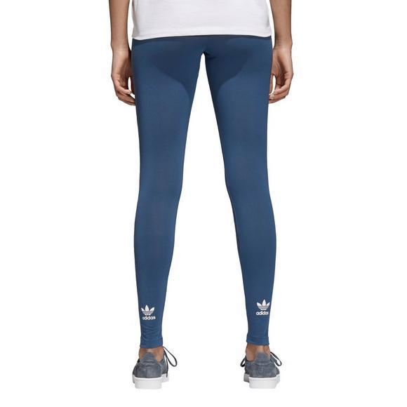 12c4c4b6aa adidas Originals Women's Trefoil Leggings-Blue - Hibbett US