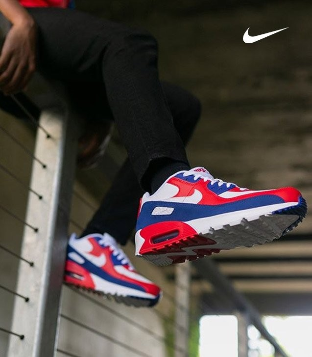 Nike Air Max 90 White/Red/Blue Shoe