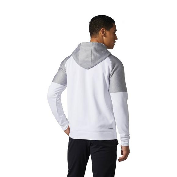 69d55a9b adidas Men's Team Issue Fleece Colorblock Hoodie - White - Main Container  Image 2