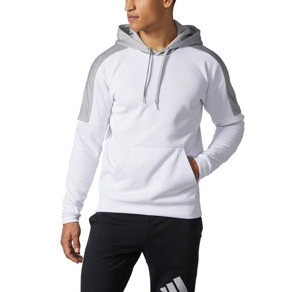 e35ca0f2 adidas Men's Team Issue Fleece Colorblock Hoodie - White - Main Container  Image 1