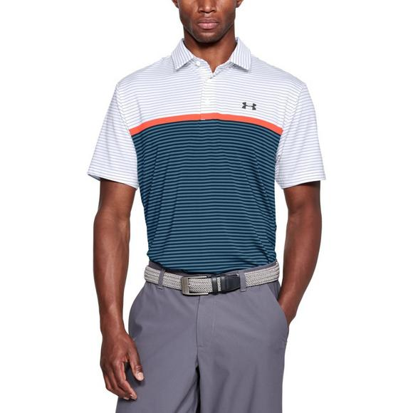 17e87e6047eb7a Under Armour Men s Playoff Wedge Stripe Golf Polo - White - Main Container  Image 1