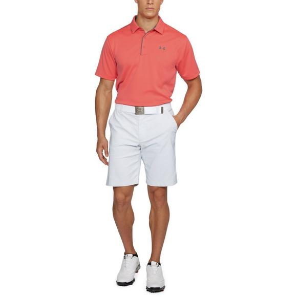 dbdf192f Under Armour Men's Tech Polo Shirt - Pink - Main Container Image 2
