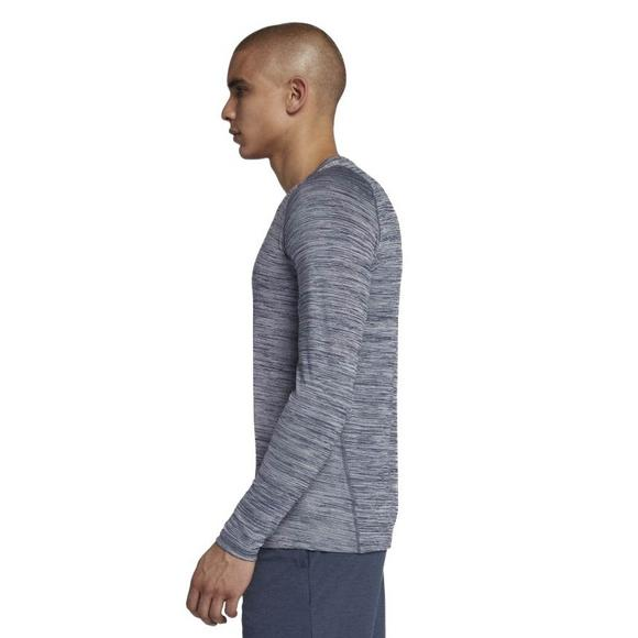 b18e0c52 Nike Men's Pro Fitted Long Sleeve Top - Grey - Main Container Image 2