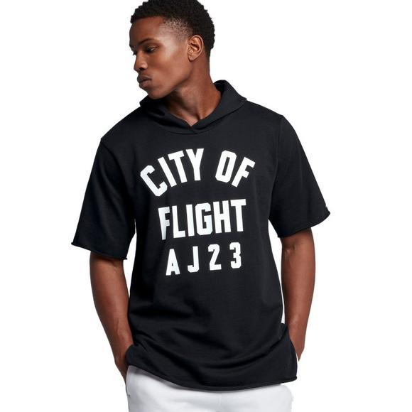 2c4097fd Jordan Men's City of Flight Short-Sleeve Hooded Top - Main Container Image 1