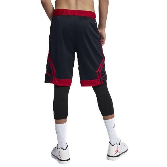 3d1ac51532285d Jordan Men s Rise Diamond Basketball Shorts-Black Red - Main Container  Image 2