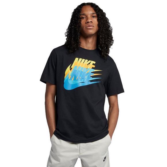 69689f0d93f5 Nike Men s Sportswear Futura T-Shirt - Black Blue Yellow - Main Container