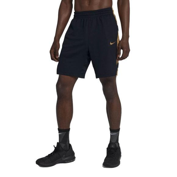 9df061c5be Nike Men's Elite Basketball Shorts-Black/Gold - Hibbett US
