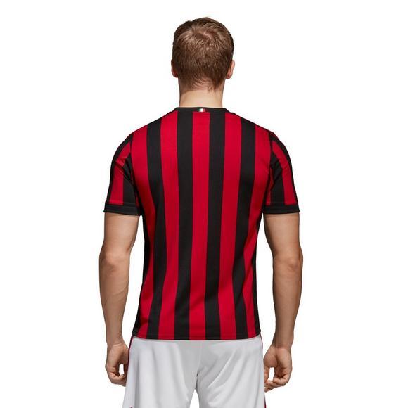 free shipping d99c2 79f8e adidas Men's AC Milan Home Replica Jersey - Hibbett | City Gear