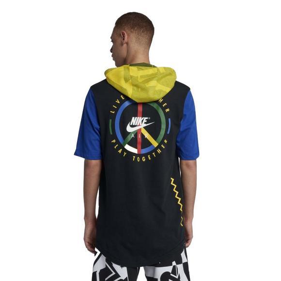 5b0b43ae Nike Men's Sportswear Short-Sleeve Hooded T-Shirt - Main Container Image 2