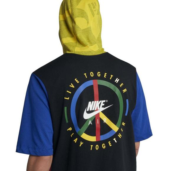 4ff49bf2 Nike Men's Sportswear Short-Sleeve Hooded T-Shirt - Main Container Image 4