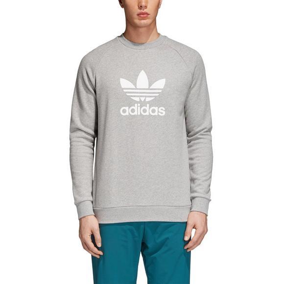 21bc12e5d5 adidas Men's Originals Trefoil Crew Sweatshirt - Grey