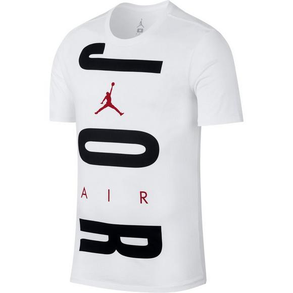 2ea36bc6a10d1d Jordan Men s Wordmark T-Shirt - White Black - Main Container Image 1